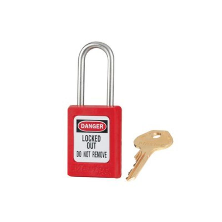 Zenex veiligheidshangslot rood S33RED - S33KARED
