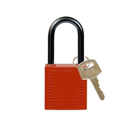 Nylon compact safety padlock red 814126