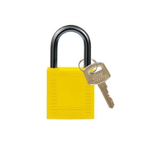 Nylon compact veiligheidshangslot geel 814117