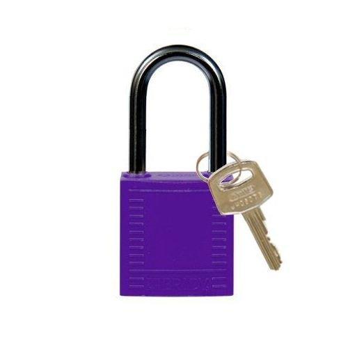 Nylon compact veiligheidshangslot paars 814131