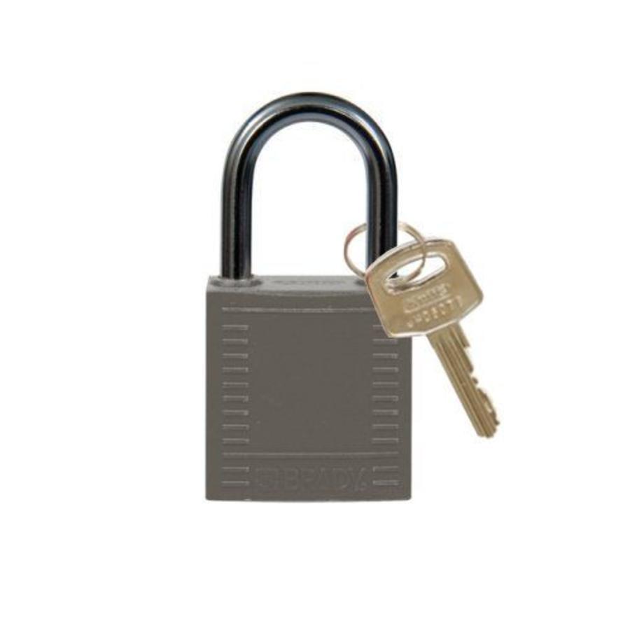 Nylon compact safety padlock grey 814123