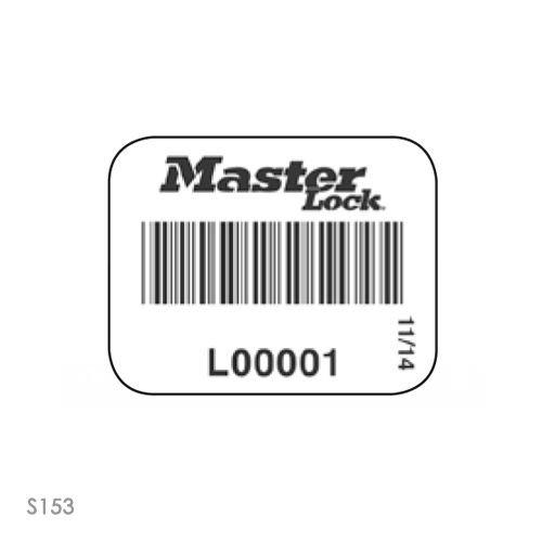 Hangslotsticker met barcode S150-S153