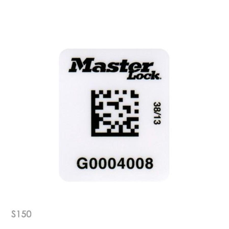 Vorhängeschloss-Etiketten mit Barcode (100 Stück) S150-S153