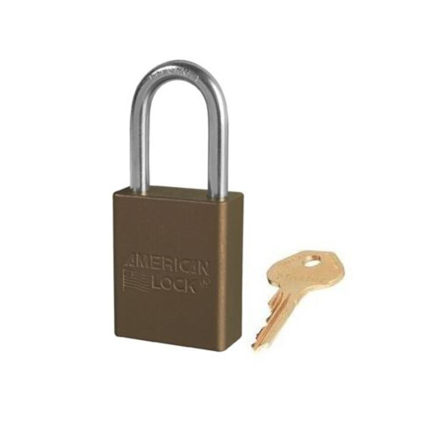 Geanodiseerd aluminium veiligheidshangslot bruin S1106BRN