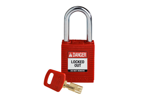 SafeKey nylon safety padlock red 150321