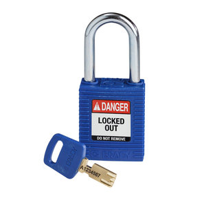Brady SafeKey nylon safety padlock blue 150251 / 150316