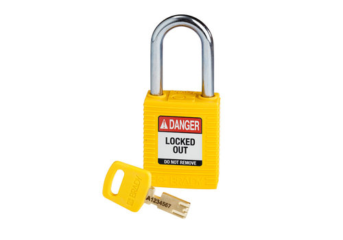 SafeKey nylon safety padlock yellow 150343