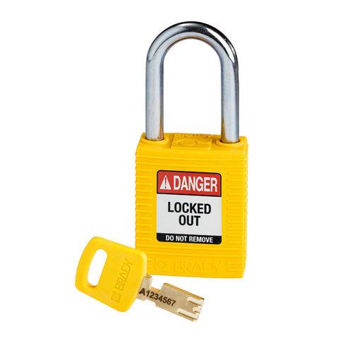 SafeKey nylon veiligheidshangslot geel 150343