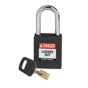 Brady SafeKey nylon safety padlock black 150234 / 150246