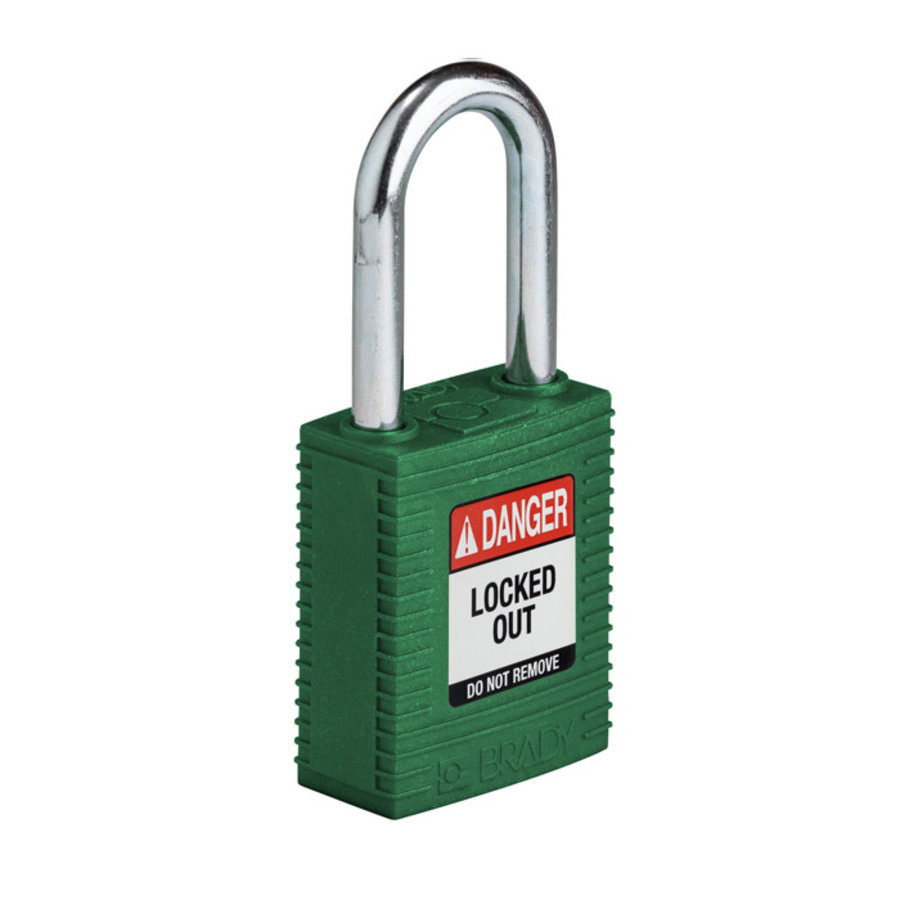 SafeKey nylon safety padlock green 150368 / 150337
