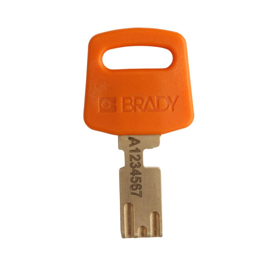 SafeKey nylon veiligheidshangslot oranje 150320 / 150364