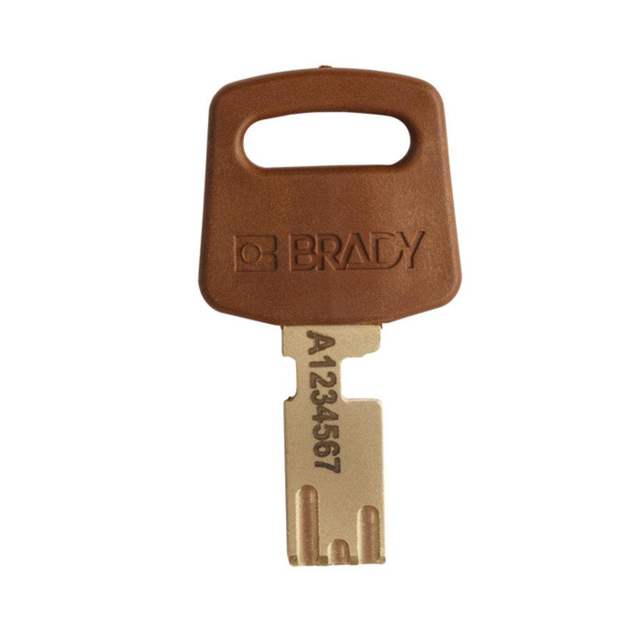 SafeKey nylon veiligheidshangslot bruin 150275 / 150228