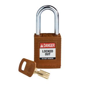 Brady SafeKey nylon safety padlock brown 150275 / 150228
