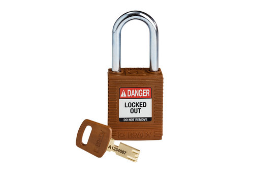 SafeKey nylon safety padlock red brown 150275