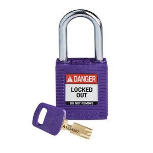 Brady SafeKey nylon safety padlock purple 150250 / 150362