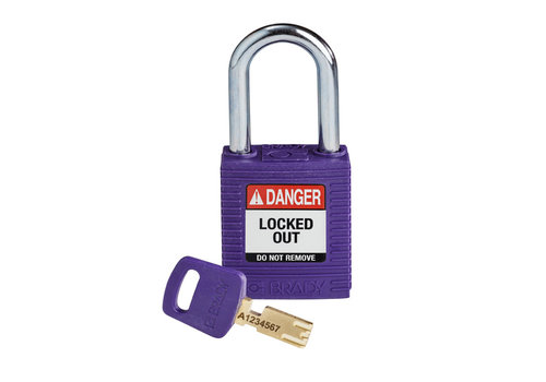 SafeKey nylon safety padlock red purple 150250