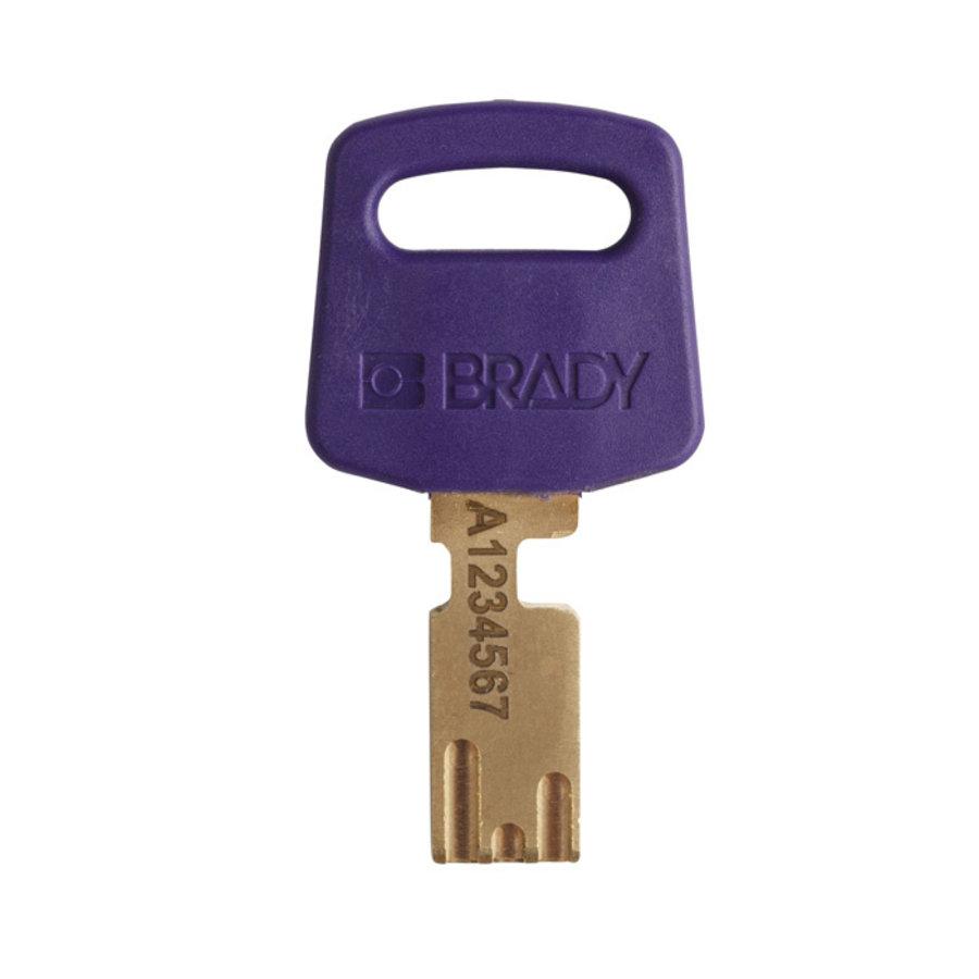SafeKey nylon safety padlock purple 150250 / 150362