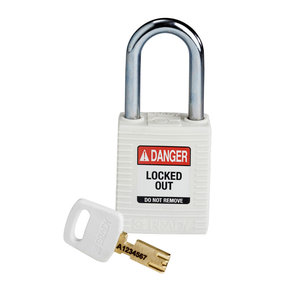Brady SafeKey nylon safety padlock white 150367 / 150292