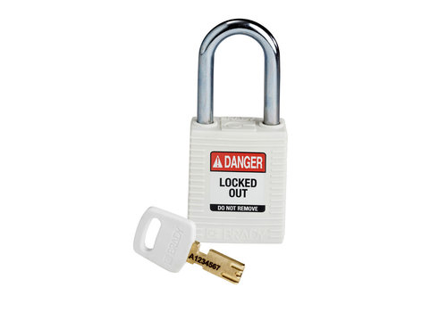 SafeKey nylon safety padlock red white 150367