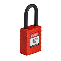 SafeKey nylon veiligheidshangslot rood 150342 / 150311