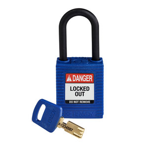 Brady SafeKey nylon veiligheidshangslot blauw 150366 / 150221