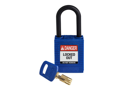 SafeKey nylon safety padlock blue 150366