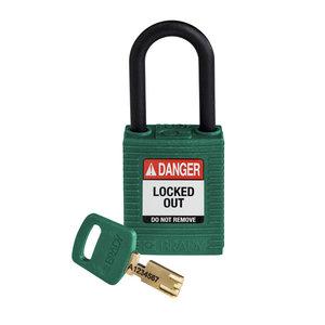 Brady SafeKey nylon Sicherheits-vorhängeschloss grün 150273/ 150334