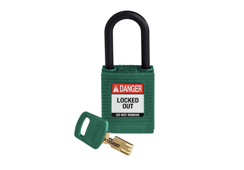 SafeKey nylon safety padlock green 150273