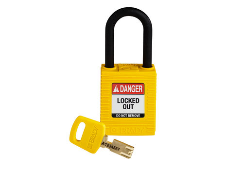 SafeKey nylon safety padlock yellow 150232