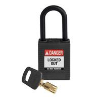 SafeKey nylon Sicherheits-vorhängeschloss schwarz 150231 / 150351