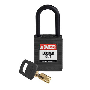 Brady SafeKey nylon safety padlock black 150231 / 150351