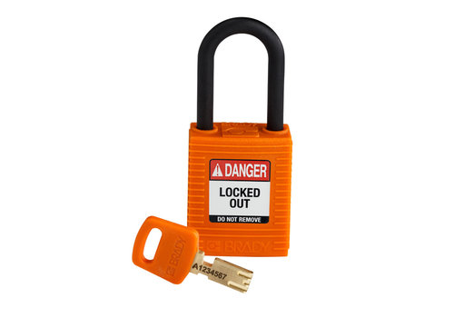 SafeKey nylon safety padlock orange 150230