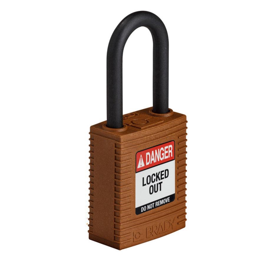 SafeKey nylon veiligheidshangslot bruin 150318 /  150309