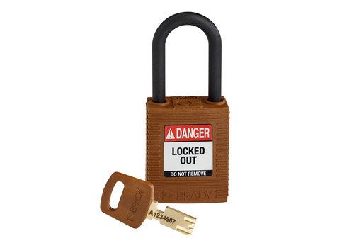 SafeKey nylon veiligheidshangslot bruin 150318
