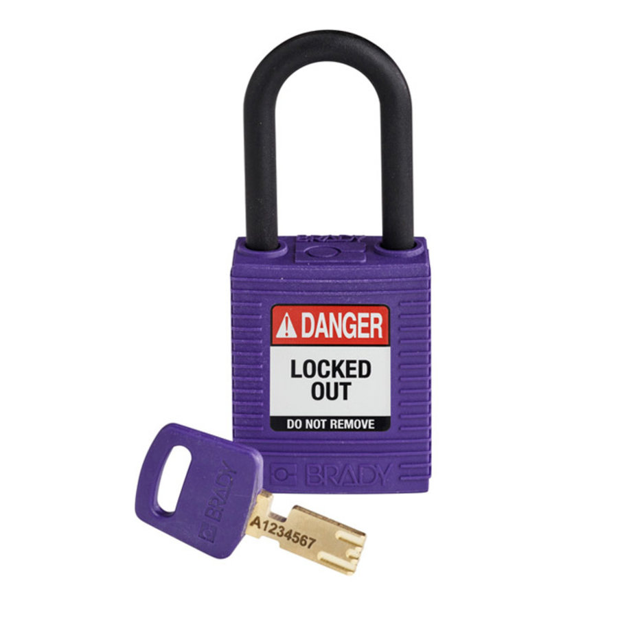 SafeKey nylon safety padlock black purple 150272 / 150350