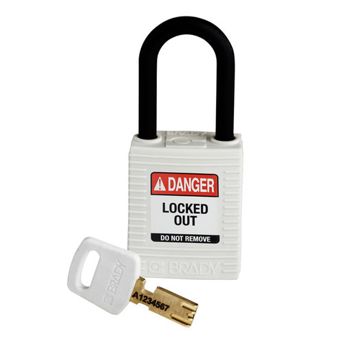 SafeKey nylon Sicherheits-vorhängeschloss weiß 150365