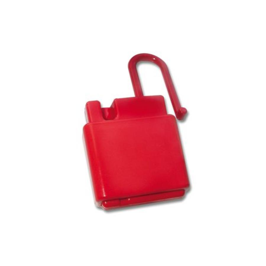 Non-conductive locking hasp