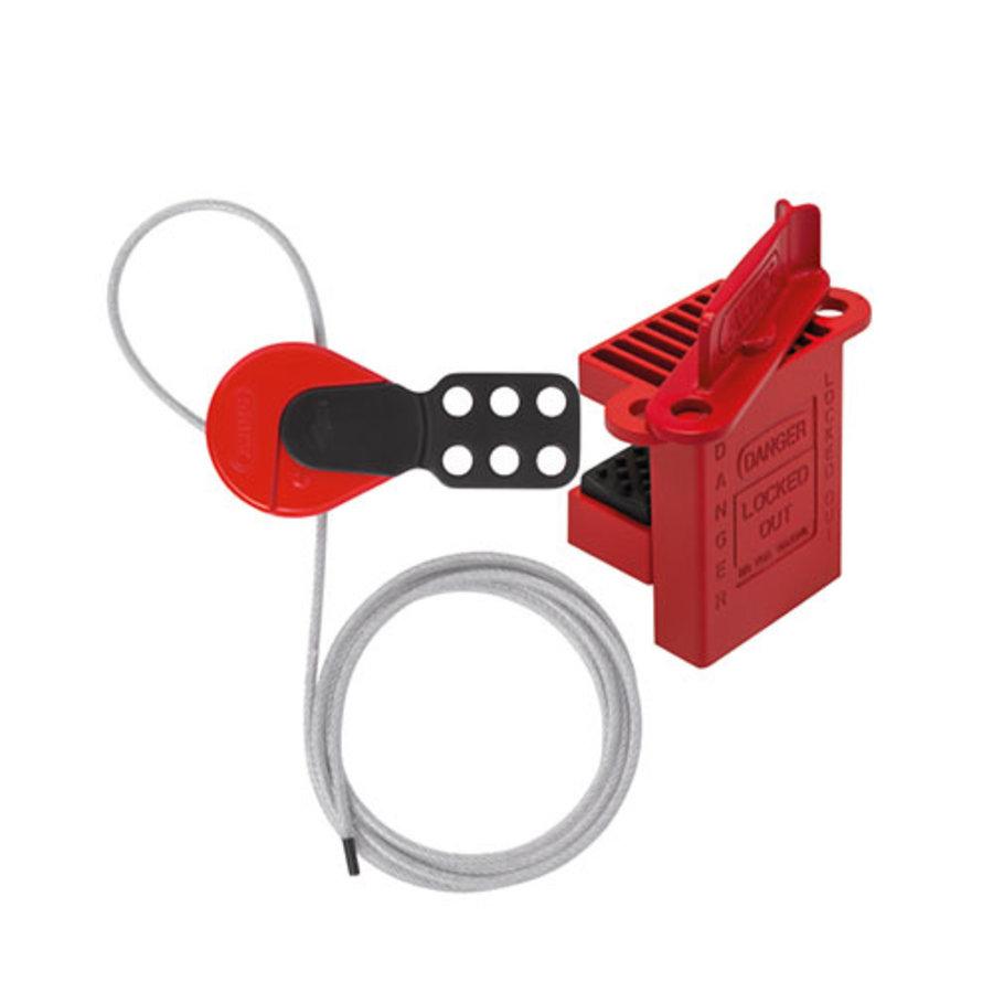 Universal ball valve lockout + C506 cable lockout device V500SET