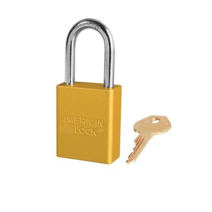 Geanodiseerd aluminium veiligheidshangslot geel S1106YLW