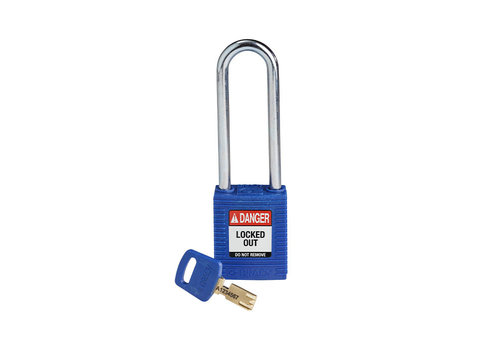 SafeKey nylon safety padlock blue 150249
