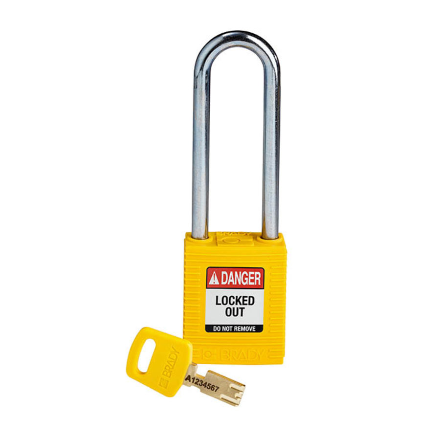 SafeKey nylon veiligheidshangslot geel 150296