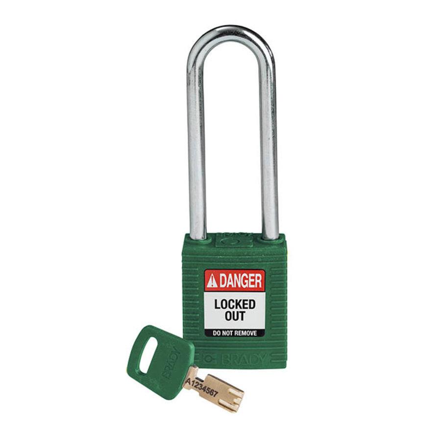 SafeKey nylon Sicherheits-vorhängeschloss grün 150319