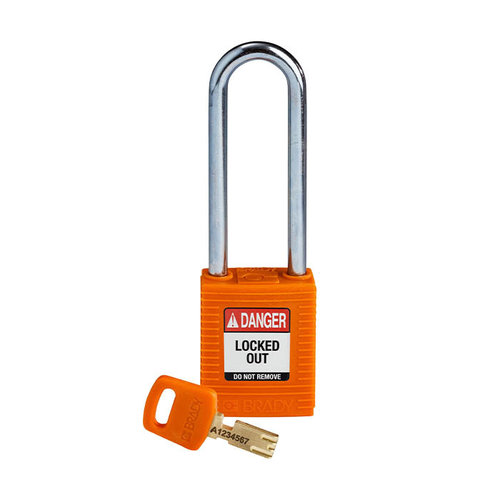 SafeKey nylon Sicherheits-vorhängeschloss orange 150248