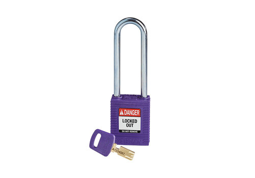 SafeKey nylon safety padlock purple 150233
