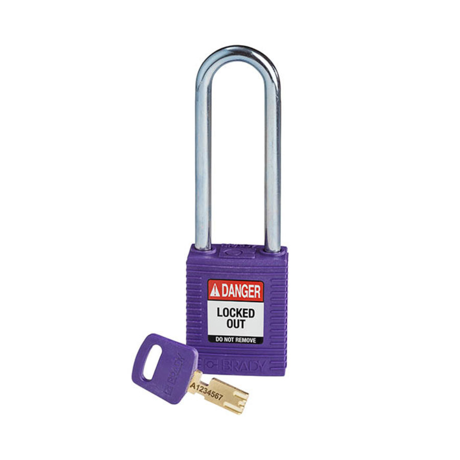 SafeKey nylon safety padlock purple 150233