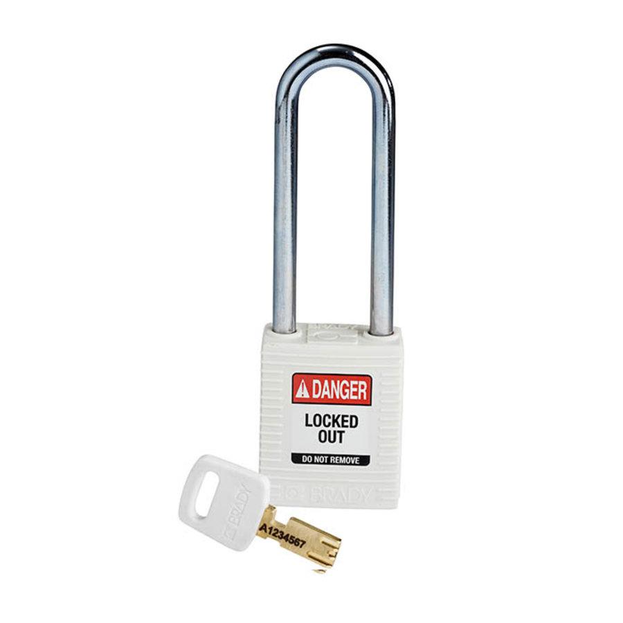 SafeKey nylon veiligheidshangslot wit 150295