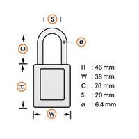 SafeKey nylon Sicherheits-vorhängeschloss blue 150249