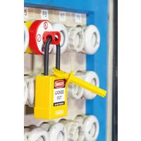 Verreigelung für Schraubsicherungen mit Aufname für Vorhängeschlösser E218 - E233