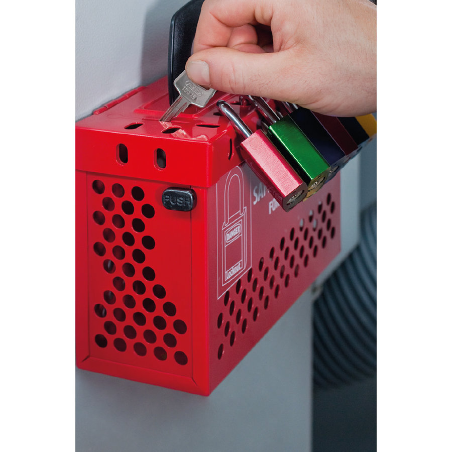 Safety Redbox groep-lockout box B835