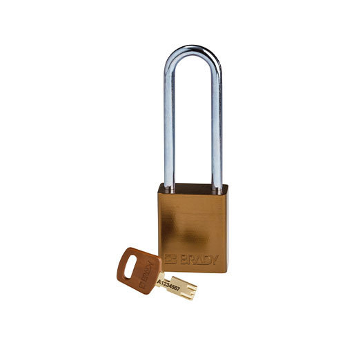 SafeKey Aluminium safety padlock brown 150284